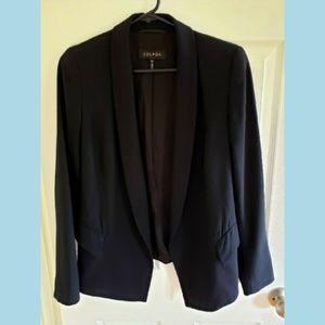ESCADA Black Open Front Hi-Lo Blazer Size 34